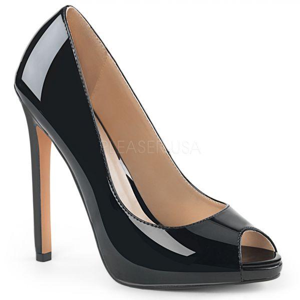 Peep Toe Stiletto High-Heels mit kleinem eingearbeiteten Plateau SEXY-42